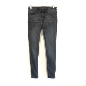 Abercrombie & Fitch washed gray skinny jeans 00S